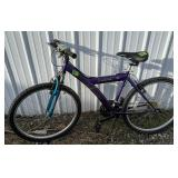 Purple Kent 1800 On And Off Road 18 Speed Bicycle