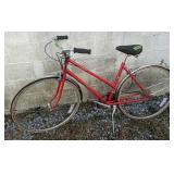 Red Spalding Blade Ladies Bike