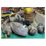 Decoys, Bucket Seats, Bushel, Channel Marker