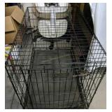 Black Wire Metal Dog Crate 36x22x24 In