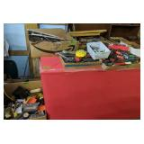 Table Lot Of Tools. Ratchets, Sockets, Wrenches,