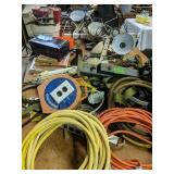 Table Lot Extension Cords, Trailer Winch,