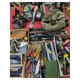 Screwdrivers, Exacto Knives, Table Saw, Belt