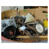 Box Lot Assorted Tools Etc