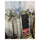 Floor Fan, Box Fans, Ladders, Fishing Nets, Yard