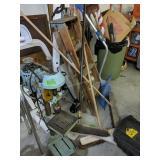 Drill Press, Brooms, Ladder, Snow Shovel, Walker