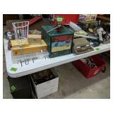 Table Lot Tool Chest, Milwaukee Sawzall,