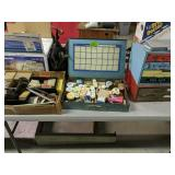 Table Lot Hardware, Tool Bag, Electronic Parts,