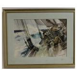 James Milton Sessions Watercolor Print Ship At