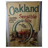"""Oakland Sensible 6 Felt Car Throw Blanket 44x70"""""""