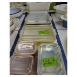 Pyrex Refrigerator Dishes, Loaf Pans