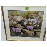 Wendy Scheirer Floral Watercolor Landscape S