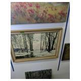 2 Oil Paintings On Board Winter Treat Scene,