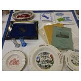 Delaware Ephemera, Plates, Ashtrays, Coin Banks