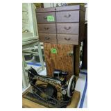 Singer Sewing Machine, Jewelry Cabinet