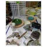 Fiestaware Plates, Paint Spinning Rack, The