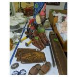 Wood Rooster, Hen, Shelf Brackets, Whistle,