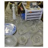 Candlewick Glasses, Candlestick Holders, Plastic
