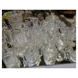 Crystal Decanters, Glasses, Bowls, Ice Bucket Etc