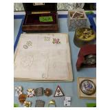 Rouge Music Box, Wood Puzzle, Ladies Linens,
