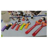 Disney Items. Back Scratcher, Figurines, Pez, Cups