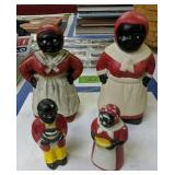 Aunt Jemima Cast Iron Coin Bank, Salt And Pepper