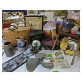 Longaberger Baskets, Pottery, Boat Propeller,