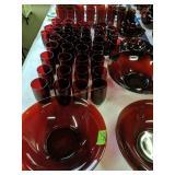 Ruby Glass Drinking Glasses, Bowls Etc