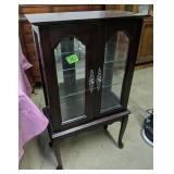 Mirror Back  Curio Display Cabinet 22x11x39-in