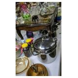 Table Lot Cookware, Bowls, Art Glass, Elephant