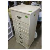 Whitewash Chest Of Drawers 19x16x 43-in