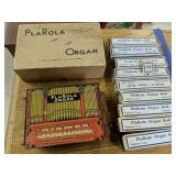 Plarola Organ With Rolls & Orig Box