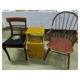 Windsor Armchair, Side Chair, End Table