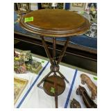 Mahogany Plant Stand 13x30-in