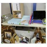 Wood Shelf, Crafting Paper, Computer Monitor,