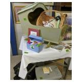 Computer Printers, Doll Cradle, Basket With