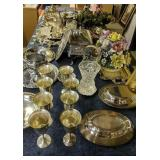 Large Collection Of Silver Plate, Crystal, Piano
