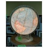 Light Up Globe, Wood Stand