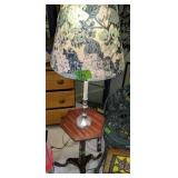 """51"""" Cherry Table With Attached Lamp"""