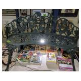 Green Metal Garden Bench Seat 40 Inches Wide