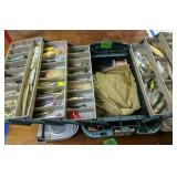 Green Tackle Box With Fishing Lures, Sears