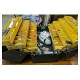 Brown Tackle Box With Fishing Lures