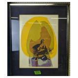 """Anne Broadwell E500 Flame Art Print 25x31"""""""