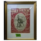 Dan Patched Two Step Sheet Music Framed