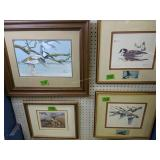 4 Pictures.t.r Jones Bird Painting, Signed