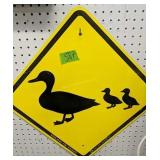 Ducks Unlimited Duck Crossing Metal Sign. What