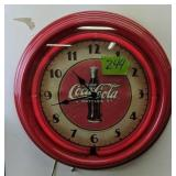 Coca-cola Neon Clock