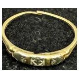 14k Gold Rhapsody Ring 0.5 Dwt