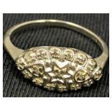 14k White Gold Ring Diamond Chips 1.6 Dwt
