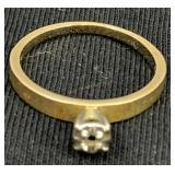 14k Gold Ring, Missing Stone 1.6 Dwt